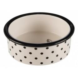 Miska ceramiczna dla kota Trixie - czarno-biała
