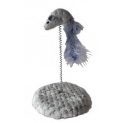 Zabawka dla kota Yarro - szara mysz na podstawce