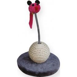 Zabawka / drapak dla kota Yarro - myszka z kulką