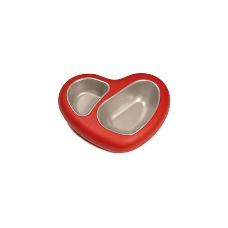 Zestaw misek na podstawie w kształcie serca - 0,75+0,4 l