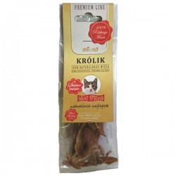 Przysmak dla kota Milord 100% mięsa - królik paski 40g