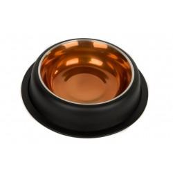Miska metalowa na gumie Drewno - malowana 0,95l