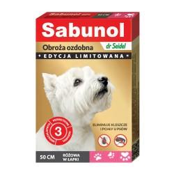 Sabunol - obroża przeciw pchłom i kleszczom - dla psów 50 cm - niebieska w kropki