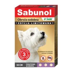 Sabunol - obroża przeciw pchłom i kleszczom - dla psów 50 cm - zielona w łapki