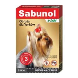 Sabunol - obroża przeciw pchłom i kleszczom - dla psów 50 cm - pomarańczowa w serca