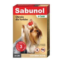 Sabunol - obroża przeciw pchłom i kleszczom - dla psów 35 cm - ozdobna różowa