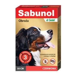 Sabunol - obroża przeciw pchłom i kleszczom - dla psów 50 cm - szara