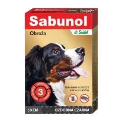 Sabunol - obroża przeciw pchłom i kleszczom - dla psów 50 cm - czerwona