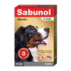 Sabunol - obroża przeciw pchłom i kleszczom - dla psów 50 cm - ozdobna czarna