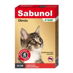 Sabunol Plus - obroża przeciw pchłom i kleszczom - dla psów 75 cm