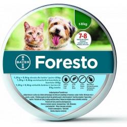 Bayer Foresto - obroża przeciw pasożytom dla psa i kota - poniżej 8 kg