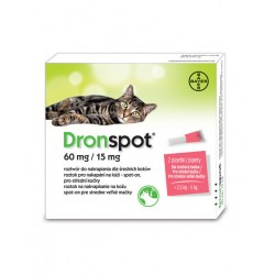Bayer DronSpot - krople odrobaczające dla małych kotów 0,5-2,5 kg