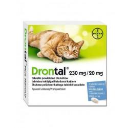 Bayer Drontal tabletki odrobaczające dla kotów - 2 sztuki